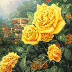 A Perfect Yellow Rose by Thomas Kinkade