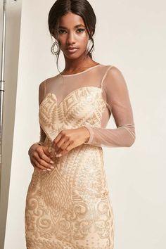 ee83110ac1 FOREVER 21 Glitter Sequin Mesh Dress Sequin Mesh Dress