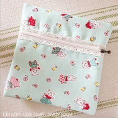 Learn how to make this darling and simple exposed lace zipper pouch! thanks so xox ☆ ★   https://www.pinterest.com/peacefuldoves/
