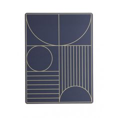 This dinner mat gives your table an elegant and sophisticated look while protecting sensitive surfaces from warm plates, water rings etc. Perfect for everyday use, as it can easily be wiped clean with a damp cloth. A practical cork backside makes sure the mat does not slip. Colour: Dark Blue Size: W: 40 x H: 30 cm Material: Cork backside, duratree hardboard, core and paper with mat UV varnish Care instructions: Wipe with damp cloth