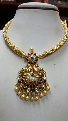 Gold Jewellery Design, Gold Jewelry, Jewelry Sets, Gold Necklace, India Jewelry, Temple Jewellery, Indian Wedding Jewelry, Bridal Jewelry, Latest Jewellery