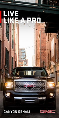 Inside the GMC Canyon Denali pickup truck, you'll experience premium amenities and advanced technologies that you would expect to find in a larger truck.  The craftsmanship, attention to detail and premium materials are what you expect from a Denali.