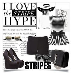 """Stripe Hype"" by letiperez-reall ❤ liked on Polyvore featuring Élitis, WearAll, Yves Saint Laurent and Alice + Olivia"
