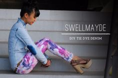 Jeans Makeovers - DIY Tie Dye Denim - Easy Crafts and Tutorials to Refashion Your Jeans and Create Ripped, Distressed, Bleach, Lace Edge, Cut Off, Skinny, Shorts, and Painted Jeans Ideas http://diyprojectsforteens.com/diy-jeans-makeovers