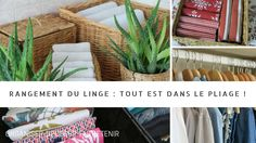 Dans nos armoires : ranger le linge Konmari, Laundry Basket, Decoration, Wicker, Organization Ideas, Home Decor, Storage, Style, Linens