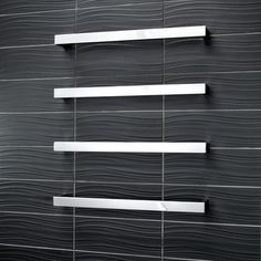Our premium range of stainless steel heated single bar towel rails are available in a variety of sizes and styles, including round bar, square bar or curved bar and in mirror polished, matt black or brushed satin finishes. All of our towel rails have Australian approval and are low voltage (12V) and are hard wired to a transformer.