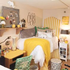 Obsessed with the color scheme of this room-love the bright yellows! And of course I adore all the elephant themed elements, perfect for alabama!