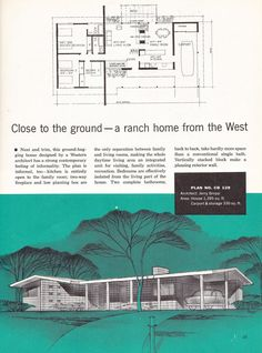 Retro home decor Ideas Eye catching retro styling guide for a wonderfully retro retro home decorating mid century Home Decor idea number posted on 20181231 Mid Century Ranch, Mid Century House, Vintage House Plans, Modern House Plans, Mid Century Modern Design, Mid-century Modern, Floor Plans, Bed Plans, House Design