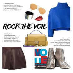 """""""Rock the Vote! Make Your Voice Heard!"""" by outfitsfortravel ❤ liked on Polyvore featuring Vika Gazinskaya, Linda Farrow, Vince, Niin, Fendi, Tom Ford and contemporary"""