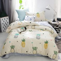 Teen Girl Bedrooms, visit the completely snug decor project immediately, info 8707522602 Kids Bedroom Sets, Teen Girl Bedrooms, Teen Bedding, Bedding Sets, Chic Bedding, Modern Bedding, Pineapple Room Decor, Bed Sets, My New Room