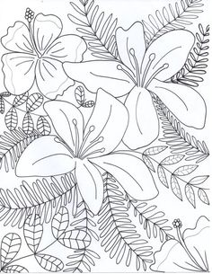 Flowers Coloring Page By FunnyJune22 More