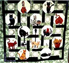 Heartland's painted cat quilt