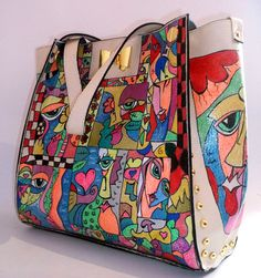1490e8b12f9 48 Best Handbag Makeovers images   Side purses, Bags, Painting leather