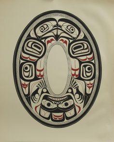 Haida Argillite Plate , Eagle Charles Edenshaw