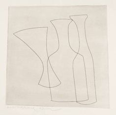 Ben Nicholson continuous line. The most simple line contains and describes the form. How little line can you use to convey the form?