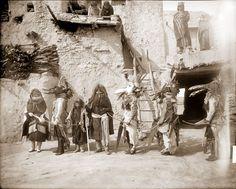 Katsinas of Hopi Powamu Ceremony, Walpi Pueblo, Arizona, 1893
