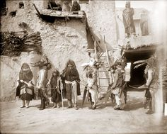 Katsinas of Hopi Powamu Ceremony, Walpi Pueblo, Arizona, 1893