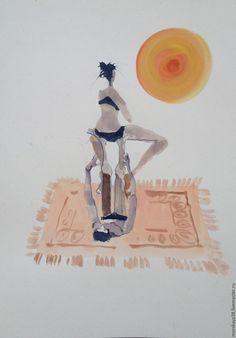 Купить акварели - акварель, картина акварелью, смешные картинки, акварельная картина, подарок для женщины