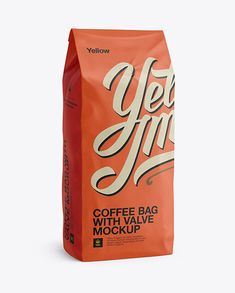 2,5 kg Coffee Bag With Valve Mockup - Half-Turned View. Preview