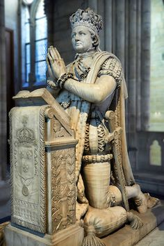 Grave Marker- Tomb monument of Louis XVI (1754 - 1793) king of France 1774 to 1792. Cathedral Basilica of Saint Denis - Paris