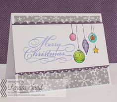 Luv 2 Scrap n' Make Cards, Great Impressions Stamps, Christmas Card