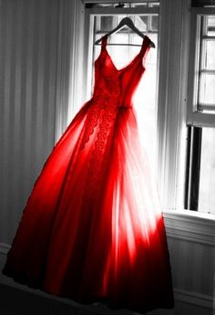 I would LOVE to have somewhere to go that I could wear a beautiful red gown!