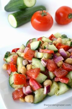 The Garden Grazer: Ultimate Greek Chopped Salad