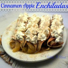 Cinnamon Apple Enchiladas ~ Quick & Easy syrupy, Apple Enchiladas #Enchiladas #AppleRecipe