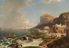 View on Capri Seen from the Bay of Naples by Franz Richard Unterberger.