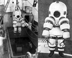 There were three generations of Neufeldt-Kuhnke suit to work in deep waters. This one is from 1923.