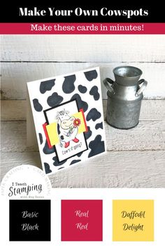 If you like making cards and you have cow stamps, you really need to make your own cow spots. It only takes seconds to create! Make Your Own, Make It Yourself, How To Make, Family Sketch, Cow Spots, Alcohol Markers, Animal Cards, Greeting Cards Handmade, How To Relieve Stress