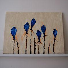 moudří modří ptáci | Ateliér B. KIOW Painting, Art, Art Background, Painting Art, Kunst, Paintings, Performing Arts, Painted Canvas, Drawings