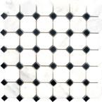 MS International Greecian White Basketweave 12 in. x 12 in. x 10 mm Honed Marble Mesh-Mounted Mosaic Tile sq. / case)-SMOT-ARA-BWP - The Home Depot Honed Marble, Marble Floor, Mosaic Tiles, Wall Tiles, Marble Mosaic, Sloped Ceiling Bathroom, New Home Wishes, The Tile Shop, Thing 1