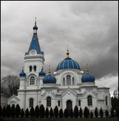 Orthodox Church in Jelgava City Province, Latvia, Russia
