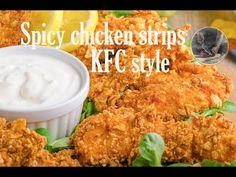 Recipe from scratch, done in 20 minutes!New recipe 2017 from our food channel Creative Kitchen! Raising Canes, Garlic Dip, Chicken Strips, Recipe From Scratch, Kfc, Sour Cream, New Recipes, Spicy, Stuffed Peppers