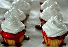 HUCKLEBERRY RASPBERRY MARSHMALLOW CUPCAKES » Get Off Your Butt and BAKE!