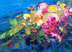 Painting Flower Painting Oil Free Shipping by AgostinoVeroni