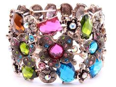 Beautiful bracelet. She carries this in a ton of colors and color combos. Wish I had them all!