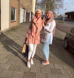 Pinterest: just4girls Hijab Style Dress, Modest Fashion Hijab, Modern Hijab Fashion, Hijab Fashion Inspiration, Islamic Fashion, Hijab Outfit, Muslim Fashion, Pakistani Fashion Casual, Fashion Outfits