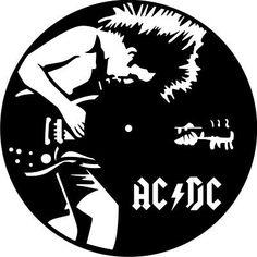 DXF CDR  File For CNC Plasma Laser Cut - AC DC Clock. Ready to cut Арт Из Виниловых Пластинок, Виниловые Пластинки, Ac Dc, Винтаж Постеры Исполнителей, Шаблоны Для Выпиливания, Искусство Силуэта, Трафаретные Печати, Идеи, Поделки Из Виниловых Пластинок
