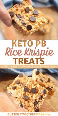 Rice Krispie Treats, Rice Krispies, Low Carb Desserts, Low Carb Recipes, Dessert Recipes, Butter Rice, Creamy Peanut Butter, Keto Snacks, Low Carb Keto