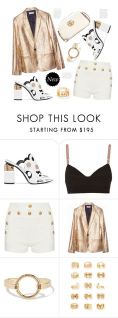 """White Gold"" by badassbabyboomer ❤ liked on Polyvore featuring Pierre Hardy, Cinq à Sept, Balmain, Isabel Marant, Chloé and Gucci"