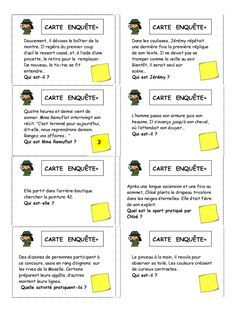 Working on inferences Language Study, French Language, Teaching French Immersion, Detective, Cycle 3, French Lessons, Learn French, Teaching Tools, Teaching Ideas