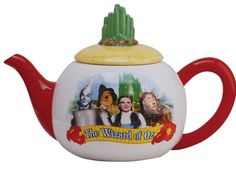 Wizard Of Oz Teapot Sip your morning tea while reminiscing about your favorite movie! Handpainted ceramic with dimensional details. Teapot Cookies, Teapots Unique, Teapots And Cups, Pot Sets, Ceramic Teapots, Chocolate Pots, Hand Painted Ceramics, Over The Rainbow, Wizard Of Oz