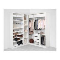 IKEA PAX corner wardrobe 10 year guarantee. Read about the terms in the guarantee brochure.