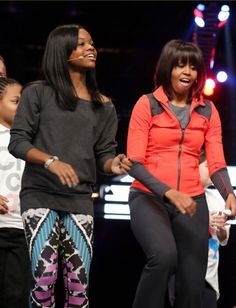 First Lady Of The United States  #MichelleObama & Olympic Gymnatics Gold Medal Winner #USA Gabby Douglas