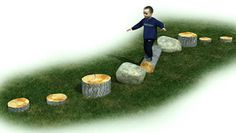 Obstacle Course - Large Our Obstacle Course uses all natural loose parts to create a course on your Preschool Playground, Preschool Garden, Backyard Playground, Backyard For Kids, Playground Ideas, Children Playground, Backyard Ideas, Garden Ideas, Natural Play Spaces