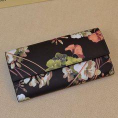 c5852868297 Gucci Gucci Blooms Print Continental Wallet Black 2016