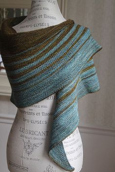 Ravelry: Passeggiata pattern by Janina Kallio Color:well water and turquoise  madeline tosh Toshmerino light colorways