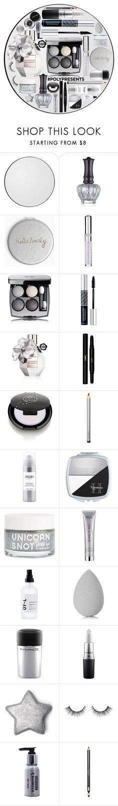 """#PolyPresents: Sparkly Beauty"" by princess13inred ❤ liked on Polyvore featuring beauty, AYTM, Anna Sui, Katie Loxton, Chantecaille, Chanel, Christian Dior, Viktor & Rolf, Yves Saint Laurent and Laura Mercier"